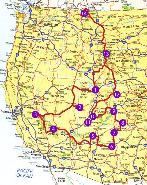 Western National Parks Trip, 2012